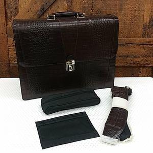 HP 💥Bosca Kings Creek Hardshell Leather Briefcase
